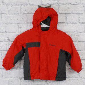 COLUMBIA Kids Fleece Lined Hooded Jacket Size M